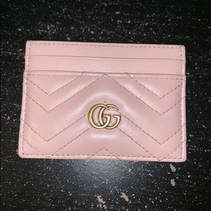 Gucci Marmont Pink Leather Card Case